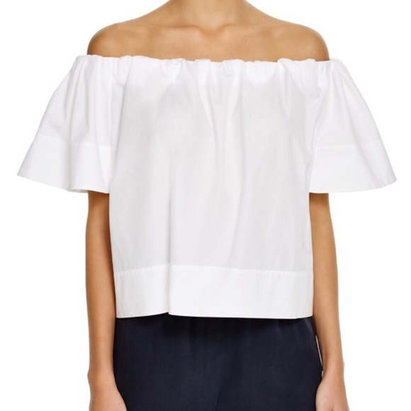 77a99855ae9ed NWT VINCE Off The Shoulder Top - Cotton Poplin